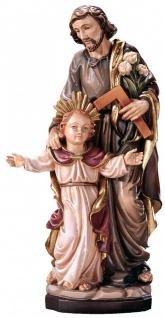 Heiliger Josef mit Jesusknabe Holz, geschnitzt handbemalt Südtiroler Schnitzkunst