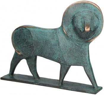 Löwe Bronze Figur Raimund Schmelter Tierfigur Bronze Statue Skulptur