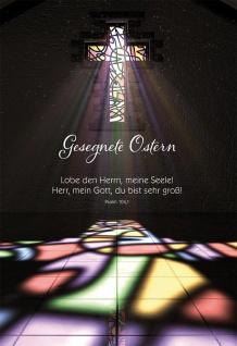 Glückwunschkarte Ostern 6 St Kuvert Bibelwort Psalm Auferstehung Glaube Jesus