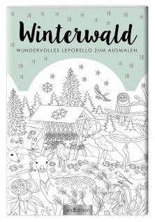 Leporello Buch Winterwald zum Ausmalen Geschenkbuch