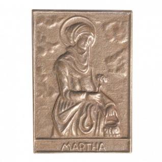 Namenstag Martha 8 x 6 cm Bronzeplakette Bronzerelief Wandbild Schutzpatron - Vorschau
