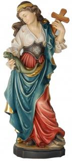 Heilige Margarethe Holzfigur geschnitzt Südtirol Schutzpatronin Märtyrerin