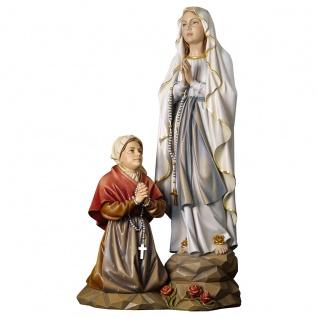 Erscheinungsgruppe Lourdes Holzfigur geschnitzt Südtirol Marienfigur