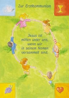 Kommunionkarte Symbole Zur Erstkommunion (6 Stck) Glückwunschkarte Kommunion