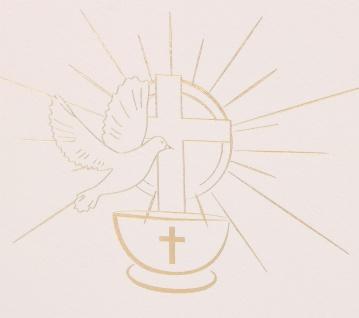 Glückwunschkarte Erstkommunion 6 Stück Kuvert Bibelwort Numeri Auferstehung