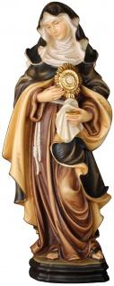 Heilige Klara mit Monstranz Heiligenfigur Holz geschnitzt Schutzpatronin