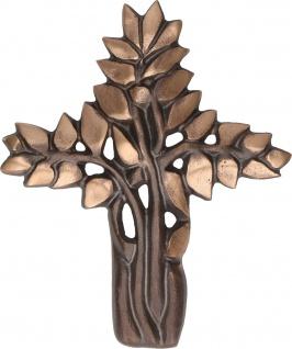 Bronzekreuz Lebensbaum Kruzifix Kreuz Bronze Patiniert Symbolkreuz