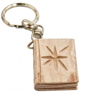 Schlüsselanhänger Bibel Buch der Bücher Olivenholz Bethlehem Schlüsselkette