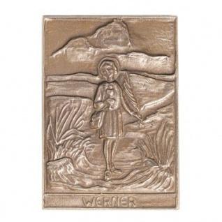 Namenstag Werner 8 x 6 cm Bronzeplakette Bronzerelief Wandbild Schutzpatron