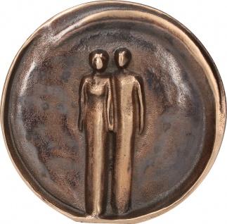 Relief Bronze Paar Stephanie Telgmann Standfigur Patiniert Kunsthandwerk