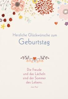 Geburtstagskarte Jean Paul Herzliche Glückwünsche (6 Stck) Glückwunschkarte Kuvert - Vorschau