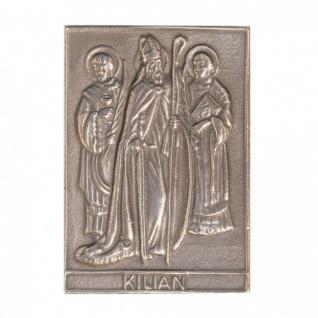Namenstag Kilian 8 x 6 cm Bronzeplakette Bronzerelief Wandbild Schutzpatron