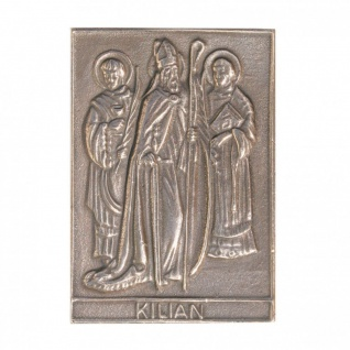 Namenstag Kilian 8 x 6 cm Bronzeplakette