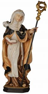 Heilige Edith Holzfigur geschnitzt Südtirol Schutzpatron Ordensfrau Märtyrerin