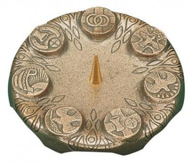 Kerzenleuchter 7 Symbole Ø 13 cm Bronze Kerzenhalter