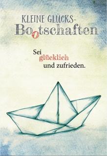 Klappkarte Kleine Glücks Bootschaften Nicole Weidner Grußkarte (6 Stück, Kuvert)