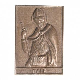 Namenstag Ralf 8 x 6 cm Bronzeplakette Bronzerelief Wandbild Schutzpatron
