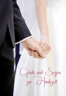 Hochzeitskarte Glück und Segen zur Hochzeit (6 St) Kuvert Grußkarte