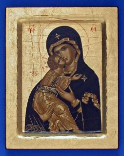 Ikone Madonna Vladimir 12 x 10 cm Griechenland