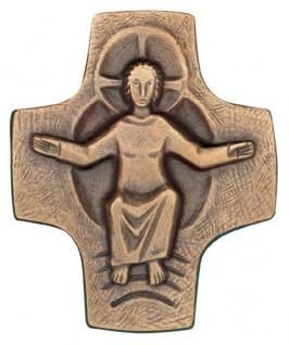 Wandkreuz Bronze Kreuz 9 x 8 cm Körper Kruzifix Christoph Fischbach Handarbeit
