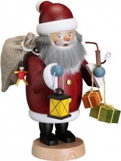 Räuchermännchen Weihnachtsmann 19 cm Seiffen Erzgebirge Handarbeit Holzfigur
