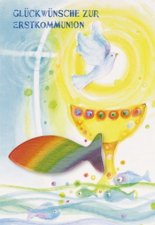 Kommunionkarte Handschmeichler Glückwünsche (3 Stck) Grußkarte Kommunion Kuvert