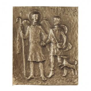 Namenstag Tobias Raphael Bronzeplakette 13 x 10 cm