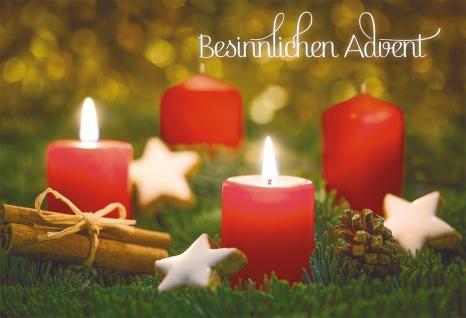 Glückwunschkarte Besinnlichen Advent Bibelwort (6 Stück) Kuvert Grußkarte