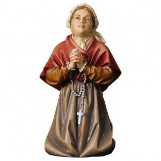 Heilige Bernadette Soubirous Holzfigur geschnitzt Südtirol Heiligenfigur