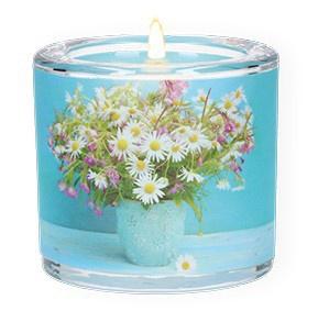 Glaswindlicht Wünsche Teelicht Kerzenhalter Geschenkbox Glas für Windlicht