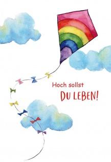 Glückwunschkarte Geburtstag 6 St Kuvert Georg Schwikart Gratulation Segen-Wunsch