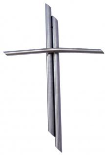 Wandkreuz Edelstahl schlicht Kreuz 19 cm Handarbeit Kruzifix Christlich