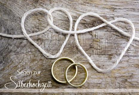 Hochzeitskarte Segen zur Silberhochzeit (6 St) Glückwunsch Kuvert Grußkarte