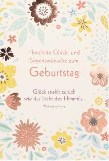 Geburtstagskarte Herzliche Glück (6 Stck) Glückwunschkarte Kuvert