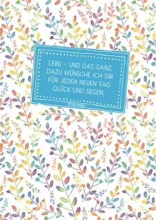 Postkarte Ich wünsche dir (10 St) Blätter Peter Friebe Grußkarte