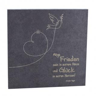 Haussegen mit irischem Segen 14, 5 x 14, 5 cm Schiefertafel