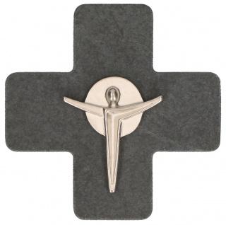 Wandkreuz Kruzifix Metall-Korpus 7, 5 cm Kerstin Stark Geschenkverpackung