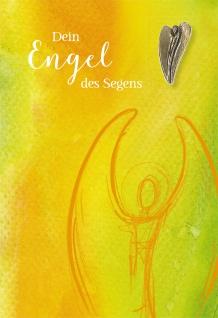 Grußkarte Bronze-Engel Anselm Grün Segen 5 St Kuvert Bronzeplakette Naturpapier