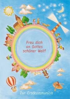 Kommunionkarte Leuchtturm Zur Erstkommunion (6 Stck) Glückwunschkarte Kommunion