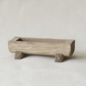 Futtertrog handgefertigt Holz 9 x 4 cm Zubehör für Weihnachtskrippe