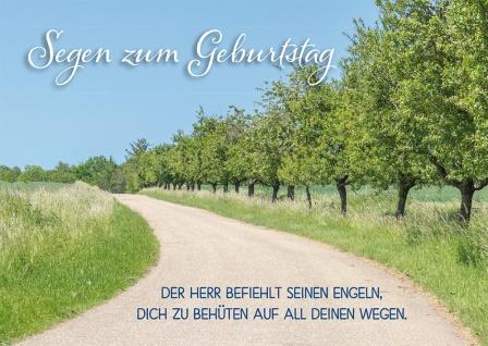 Postkarte Geburtstag Weg 10 Stück Psalm 91 Bibelwort Engel Schutz Glaube