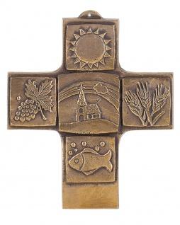 Kommunionkreuz Kruzifix christliche Symbole 10 cm Geschenk zur Kommunion