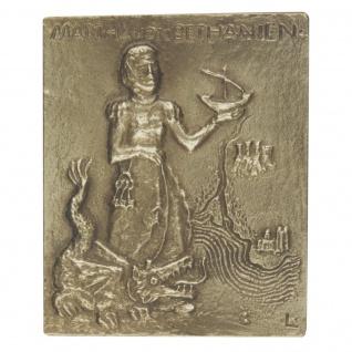 Namenstag Martha Bronzeplakette 13 x 10 cm Bronzerelief Wandbild Schutzpatron