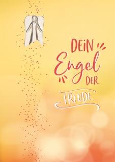 Grußkarte Engel-Plakette Kerstin Stark 5 St Kuvert Naturpapier Freude Gisela Baltes