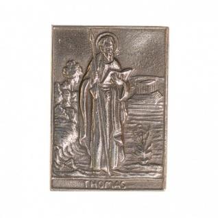 Namenstag Thomas 8 x 6 cm Bronzeplakette Bronzerelief Wandbild Schutzpatron