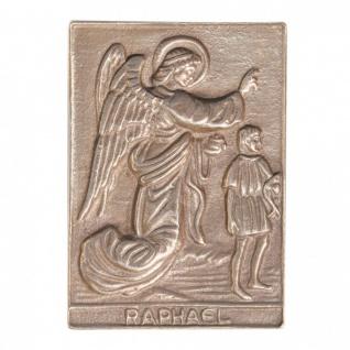 Namenstag Raphael 8 x 6 cm Bronzeplakette