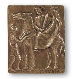 Namenstag Martin Bronzeplakette 13x10 cm Namenspatron