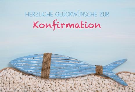 Glückwunschkarte Konfirmation Fisch 6 St Kuvert Liebe Einzigartigkeit Geschenk