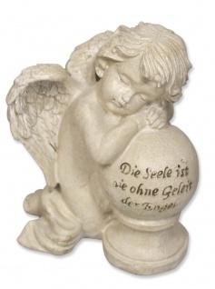 Schutzengel Die Seele ist nie ohne Geleit der Engel Grabschmuck 10, 5 cm