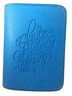 Gotteslobhülle Glaube Liebe Hoffung, Großdruck Kunstleder, blau
